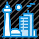 building, canada, city, famous, toronto icon
