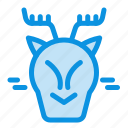 alpine, arctic, canada, reindeer icon