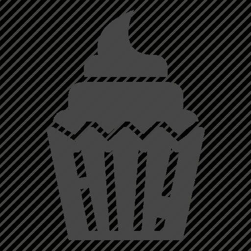 brownie, cake, cupcake icon