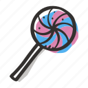candy, lollipop, nicy, sucker, sugar, sweet, sweets icon