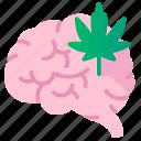 brain, cannabidiol, cannabis, cbd, marijuana, therapy icon