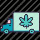 cannabis, marijuana, car, drug, transport, delivery