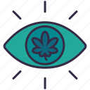 cannabis, marijuana, plant, drug, addict, eye, drunk
