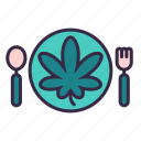 cannabis, marijuana, plant, leaves, drug, eat, food