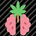 brain, cannabis, marijuana, medicine, thinking, treatment icon