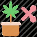 cannabis, marijuana, pot, scissor icon
