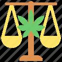 cannabis, judge, justice, law, marijuana, medical icon