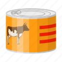 beef, can, canned food, food, meat, package, packaging icon