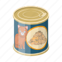 animal, can, canned food, food, package, packaging icon