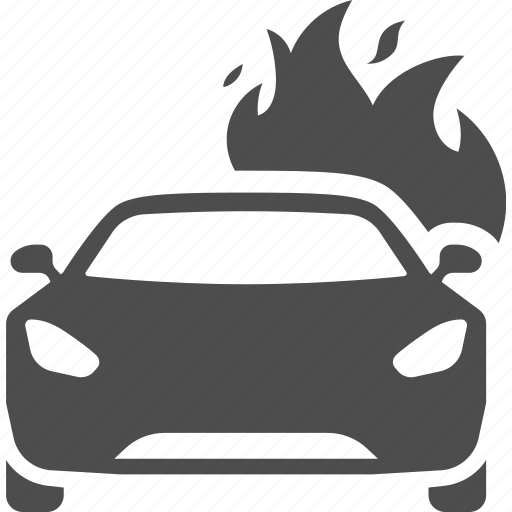 accident, accidents, car, fire icon