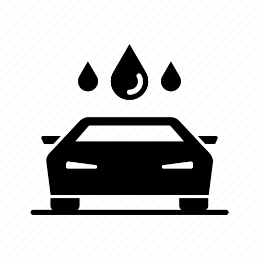 auto, car, rain, service, wash, washing, water icon