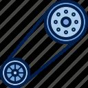 appliances, belt, camshaft, car, cardan, crankshaft, device icon