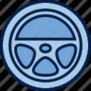 appliances, car, control, device, rudder, steering, wheel icon