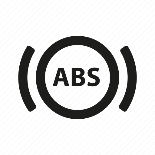 abs, car, dashboard, indicator icon