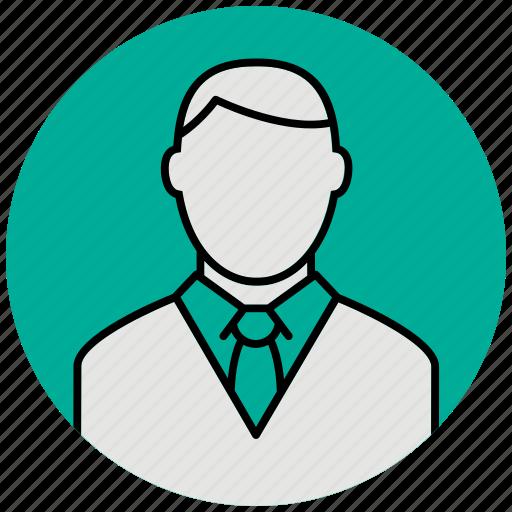 business, businessman, customer, male, man, office, tie icon