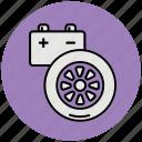 auto, automobile, car, garage, parts, road, wheel icon