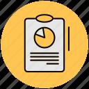 check, data, diagram, file, page, paper, report icon