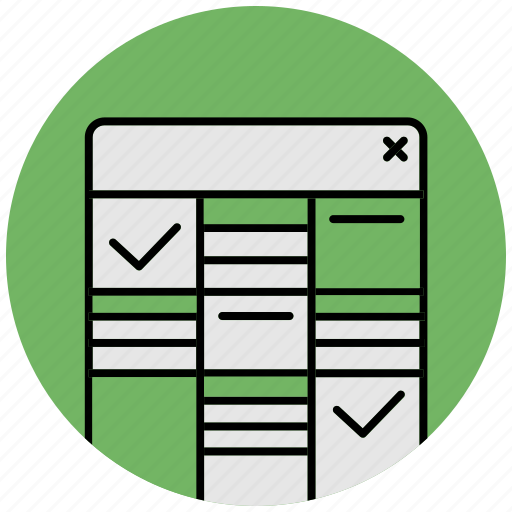 check, data, document, exel, file, maintenance, table icon