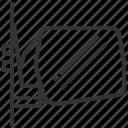 auto, automobile, car, equipment, machine, mirror, transportation icon