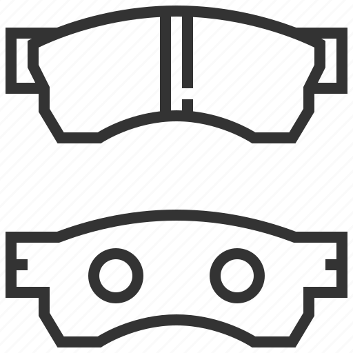 automobile, brake, car, equipment, machine, pads, transportation icon