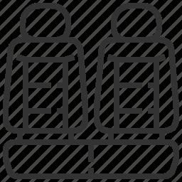 automobile, car, equipment, machine, seats, transport, transportation icon