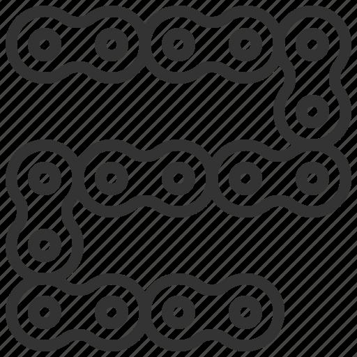 automobile, car, chain, equipment, machine, transportation icon