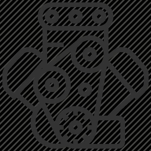 automobile, car, engine, equipment, machine, transportation icon