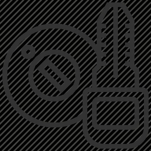 automobile, car, equipment, key, keyhole, machine, transportation icon
