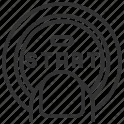automobile, car, equipment, machine, push, start, transportation icon