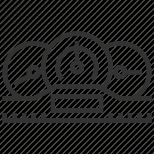automobile, car, equipment, machine, speedometer, transport, transportation icon