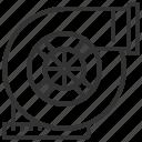 automobile, car, equipment, machine, transportation, turbocharger, vehicle icon