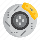 automotive, brake, disc, part, plate, spare, vehicle icon
