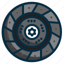 automotive, clutch, disc, part, plate, spare, vehicle icon