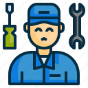 engineer, maintenance, mechanic, repair, service, technician, worker icon