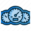 dash, dashboard, gauge, speedometor icon