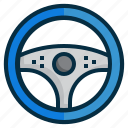 control, drive, driver, steering, transportation, vehicle, wheel icon