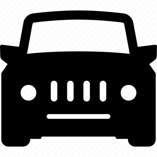 auto, automobile, car, front, sports, utility, vehicle icon