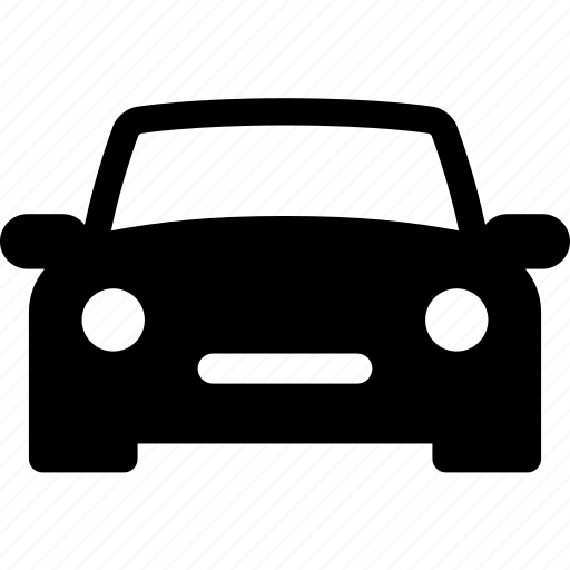 auto, automobile, car, front, mid size, vehicle icon