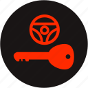 key warning, light, lock key, steering, steering lock, steering lock warning, warning icon