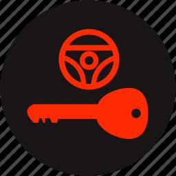 key warning, light, lock key, steering, steering lock, steering lock warning, warning icon