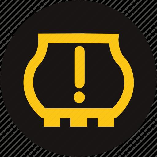 auto part, light, type, type warning, tyre pressure low, tyre pressure monitoring, warning icon