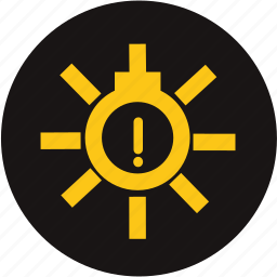 bulb monitoring, exterior light, exterior light fault, light, light fault, warning, warning light fault icon