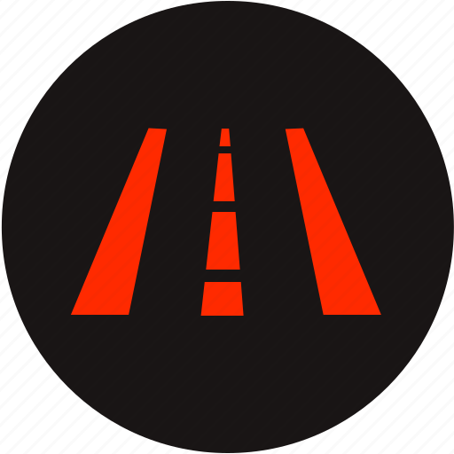 high way, lane, lane assist, lane departure warning, road, street, warning light icon
