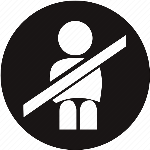 belt, light, seat belt, seat belt buckles, seat belt not on, seat belt warning, warning icon