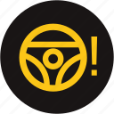 light, power steering, power steering system, power steering warning light, steering wheel, warning icon