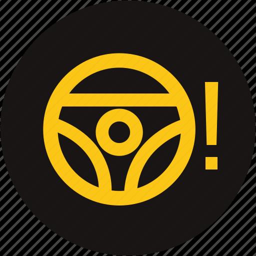 light, power steering, power steering system, power steering warning light, steering wheel, warning icon