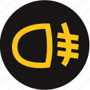 fog light, fog light front, front fog light, front lamp, light, warning, warning light icon