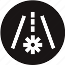 dashboard, frost, frost warning, light, road, warning, warning light icon