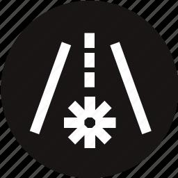 dashboard, frost, frost warning, light, road, warning, warning light icon