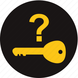 key, key not in vehicle, key warning, no key, question, warning light, where is key icon